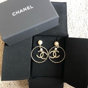 Chanel hoop earrings